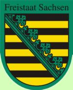 Wappen Land Freistaat Sachsen